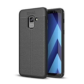 voordelige Galaxy A7(2016) Hoesjes / covers-hoesje Voor Samsung Galaxy A3 (2017) / A5 (2017) / A7 (2017) Reliëfopdruk Achterkant Effen Zacht TPU