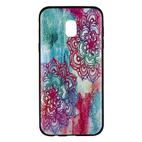 voordelige Galaxy J7(2017) Hoesjes / covers-hoesje Voor Samsung Galaxy J7 (2017) / J5 (2017) / J5 Patroon Achterkant Bloem / Kleurgradatie Zacht TPU