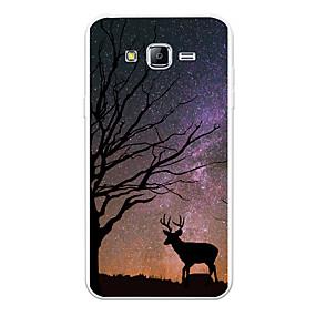 voordelige Galaxy J5 Hoesjes / covers-hoesje Voor Samsung Galaxy J7 (2017) / J7 (2016) / J7 Patroon Achterkant Landschap / dier / Cartoon Zacht TPU