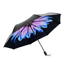 Недорогие Защита от дождя-пластик Жен. Солнечный и дождливой / Ветроустойчивый / новый Складные зонты