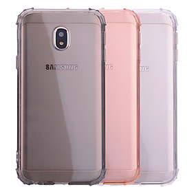 voordelige Galaxy J7(2017) Hoesjes / covers-hoesje Voor Samsung Galaxy J7 (2017) / J5 (2017) / J3 (2017) Schokbestendig / Transparant Achterkant Effen Zacht TPU
