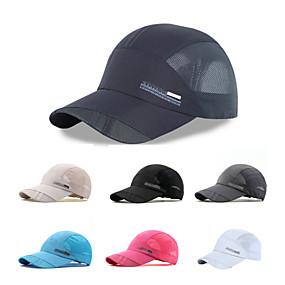 저렴한 스포츠 & 아웃도어-하이킹 캡 모자 자외선 방지 빠른 드라이 통기성 여름 다크 그레이 카키 다크 네이비 남여 공용 하이킹 등산 여행 솔리드 어른' / 메쉬 / 약간의 신축성