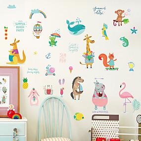 halpa Sisustustarrat-Koriste-seinätarrat - Animal Wall Tarrat Eläimet Olohuone Makuuhuone Kylpyhuone Keittiö Ruokailuhuone Työhuone / toimisto