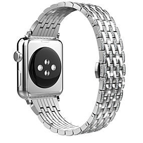 cheap Daily Deals-Watch Band for Apple Watch Series 4/3/2/1 Apple Butterfly Buckle Steel Wrist Strap