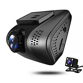 voordelige Auto DVR's-JUEFAN J3 720p / 1080p Nacht Zicht Auto DVR 140 graden Wijde hoek 2 inch(es) Dash Cam met Bewegingsdetectie 4 infrarood LED's Autorecorder / 2.0