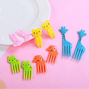 ieftine Ustensile Bucătărie & Gadget-uri-Plastice Furculițe Adorabil Creative Instrumente pentru ustensile de bucătărie pentru Fructe Bile de orez 10pcs