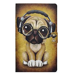 voordelige Galaxy Tab E 9.6 Hoesjes / covers-hoesje Voor Samsung Galaxy Tab E 9.6 Kaarthouder / Schokbestendig / met standaard Volledig hoesje Hond Hard PU-nahka