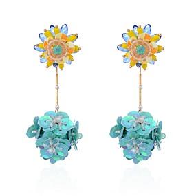 billige Blomstersmykker-Dame Dråpeøreringer Blomst damer Natur Mote øredobber Smykker Regnbue Til Seremoni Karneval 1 par