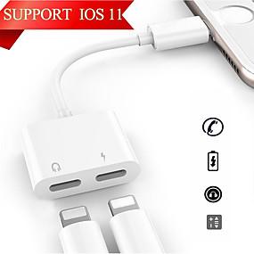 billige iPhone-kabler og -adaptere-Belysning Adapter <1m / 3ft 1 til 2 PVC USB-kabeladapter Til iPhone