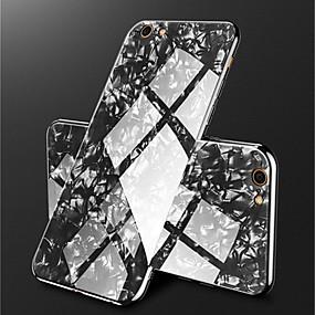 levne iPhone pouzdra-Carcasă Pro Apple iPhone X / iPhone 8 Galvanizované / Zrcadlo Zadní kryt Mramor Pevné Tvrzené sklo pro iPhone X / iPhone 8 Plus / iPhone 8