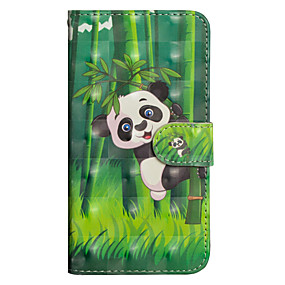 voordelige Galaxy Grand Prime Hoesjes / covers-hoesje Voor Samsung Galaxy J7 (2017) / J6 / J5 (2017) Portemonnee / Kaarthouder / met standaard Volledig hoesje Panda Hard PU-nahka