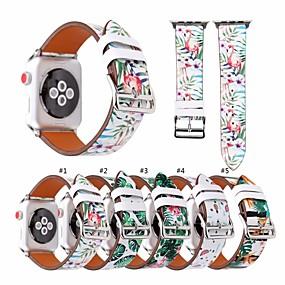 abordables Bracelets Apple Watch-Bracelet de Montre  pour Apple Watch Series 4/3/2/1 Apple Bracelet en Cuir Vrai Cuir Sangle de Poignet