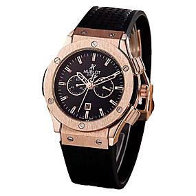 95f2510f155 baratos Jóias  amp  Relógios-Homens Relógio de Pulso Japanês Quartzo Couro  Preta   Chocolate