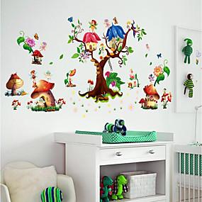 Χαμηλού Κόστους Διακοσμητικά αυτοκόλλητα-Διακοσμητικά αυτοκόλλητα τοίχου / Αυτοκόλλητα Ψυγείου - Αεροπλάνα Αυτοκόλλητα Τοίχου / 3D Αυτοκόλλητα Τοίχου Τοπίο / 3D Παιδικό / Παιδικό Δωμάτιο