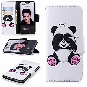 voordelige Huawei Honor hoesjes / covers-hoesje Voor Huawei Honor 7X / Honor 7C(Enjoy 8) / Honor 6X Portemonnee / Kaarthouder / met standaard Volledig hoesje Panda Hard PU-nahka