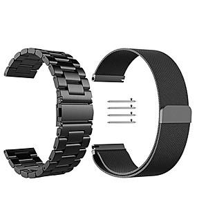 ieftine Curele Ceas pt Samsung-Uita-Band pentru Gear S3 Frontier / Gear S3 Classic Samsung Galaxy Curea Milaneza Oțel inoxidabil Curea de Încheietură