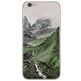 abordables Coques d'iPhone-Coque Pour Apple iPhone X / iPhone 8 Ultrafine / Motif Coque Peinture à l'Huile Flexible TPU pour iPhone X / iPhone 8 Plus / iPhone 8