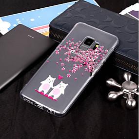 voordelige Galaxy S7 Hoesjes / covers-hoesje Voor Samsung Galaxy S9 / S9 Plus / S8 Plus IMD / Transparant / Patroon Achterkant dier / Bloem Zacht TPU