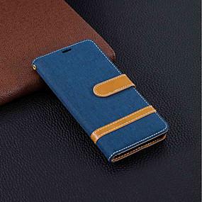 voordelige Nokia-hoesje Voor Nokia Nokia 5.1 / Nokia 3.1 Portemonnee / Kaarthouder / met standaard Volledig hoesje Effen Hard tekstiili voor Nokia 5.1 / Nokia 3.1 / Nokia 2.1