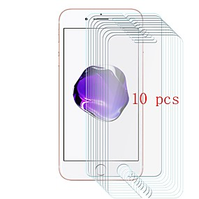 abordables Protections Ecran pour iPhone-Protecteur d'écran pour Apple iPhone 7 Verre Trempé 10 pièces Ecran de Protection Avant Dureté 9H / Anti-Rayures