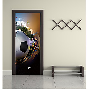 cheap Decoration Stickers-Door Stickers - 3D Wall Stickers Abstract / Football Living Room / Bedroom