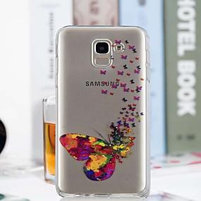 voordelige Galaxy J3 Hoesjes / covers-hoesje Voor Samsung Galaxy J7 (2017) / J6 / J5 (2017) Transparant / Patroon Achterkant Vlinder Zacht TPU