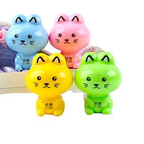 رخيصةأون أقل من 0.99$-القط على شكل اليدوية مبراة (لون عشوائي)
