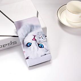 Χαμηλού Κόστους Θήκες / Καλύμματα Galaxy S Series-tok Για Samsung Galaxy S9 Plus / S9 Πορτοφόλι / με βάση στήριξης / Ανοιγόμενη Πλήρης Θήκη Γάτα Σκληρή PU δέρμα για S9 / S9 Plus / S8 Plus