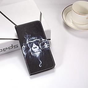 abordables Coques d'iPhone-Coque Pour Apple iPhone X / iPhone 8 Plus / iPhone XS Portefeuille / Avec Support / Clapet Coque Intégrale Animal Dur faux cuir pour iPhone XS / iPhone XR / iPhone XS Max