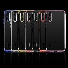voordelige Huawei Honor hoesjes / covers-hoesje Voor Huawei Huawei Honor 10 / Honor 9 / Huawei Honor 9 Lite Beplating / Transparant Achterkant Effen Zacht TPU