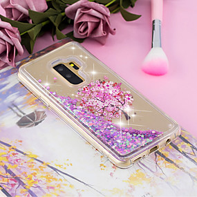 billige Trendy topvalg-Etui Til Samsung Galaxy S9 Plus / S9 Flydende væske / Transparent / Mønster Bagcover Træ / Blomst Blødt TPU for S9 / S9 Plus / S8 Plus