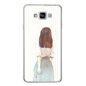 voordelige Galaxy A3(2016) Hoesjes / covers-hoesje Voor Samsung Galaxy A3 (2017) / A7 (2017) / A7(2016) Patroon Achterkant Sexy dame Zacht TPU