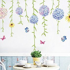 cheap Decoration Stickers-Decorative Wall Stickers - Plane Wall Stickers Floral / Botanical Bedroom