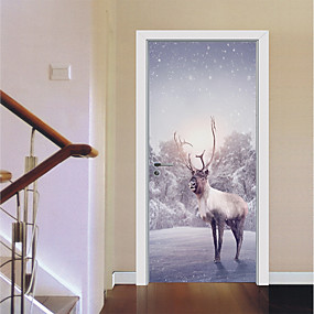 cheap Decoration Stickers-Door Stickers - 3D Wall Stickers / Animal Wall Stickers Landscape / Animals Nursery / Kids Room