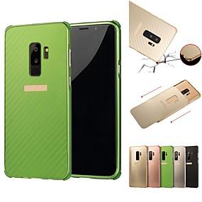 voordelige Galaxy S7 Hoesjes / covers-hoesje Voor Samsung Galaxy S9 / S9 Plus / S8 Plus Schokbestendig / Beplating Achterkant Effen Hard Aluminium