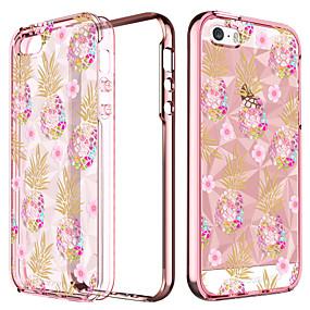 levne iPhone pouzdra-BENTOBEN Carcasă Pro Apple Pouzdro iPhone 5 Galvanizované / Průsvitný / Vzor Zadní kryt Jídlo / Ovoce Měkké TPU pro iPhone SE / 5s / iPhone 5