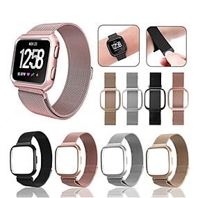 billige Mobiltelefonstilbehør-Urrem for Fitbit Versa Fitbit Sportsrem / Milanesisk rem Rustfrit stål Håndledsrem