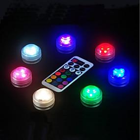 ieftine Lumini Nocturne LED-baterie de 3 litri baterie de control de la distanță lumina rezervor de scufundare 1pcs