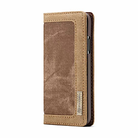 halpa iPhone 5S / SE kotelot-CaseMe Etui Käyttötarkoitus Apple iPhone X Lomapkko / Korttikotelo / Flip Suojakuori Yhtenäinen Kova tekstiili varten iPhone X / iPhone 8 Plus / iPhone 8