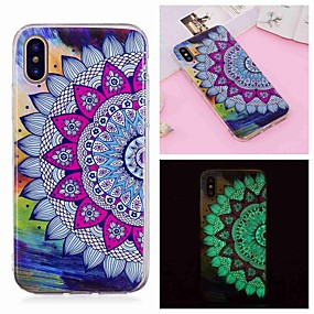 abordables Coques d'iPhone-Coque Pour Apple iPhone XR / iPhone XS Max Phosphorescent / Motif Coque Fleur Flexible TPU pour iPhone XS / iPhone XR / iPhone XS Max
