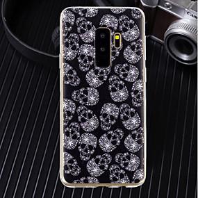 voordelige Galaxy J3(2017) Hoesjes / covers-hoesje Voor Samsung Galaxy J8 / J7 (2017) / J6 Ultradun / Transparant / Patroon Achterkant Doodskoppen Zacht TPU