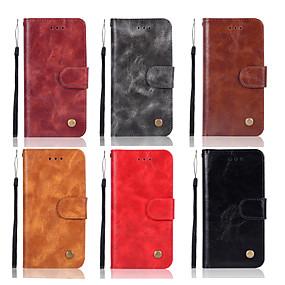 voordelige Huawei Honor hoesjes / covers-hoesje Voor Huawei Huawei Honor 10 / Honor 9 / Huawei Honor 9 Lite Portemonnee / Kaarthouder / met standaard Volledig hoesje Effen Hard PU-nahka
