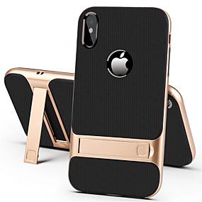 olcso iPhone 8 Plus tokok-Apple iphone xr xs xs max állvány hátsó fedéllel szilárd színű merevlemez iphone x 8 8 plus 7 7plus 6s 6s plus se 5 5s