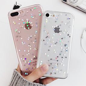 voordelige iPhone-hoesjes-hoesje voor apple iphone xr xs xs max schokbestendig / doorschijnende achterkant hart / cartoon zachte tpu voor iphone x 8 8 plus 7 7 plus 6s 6s plus se 5 5s