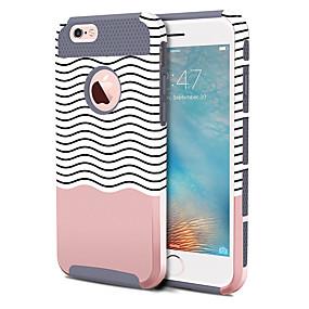 olcso iPhone tokok-BENTOBEN Case Kompatibilitás Apple iPhone 6 Plus / iPhone 6s Plus Ütésálló / Minta Fekete tok Vonalak / hullámok Kemény TPU / PC mert iPhone 6s Plus / iPhone 6s / iPhone 6 Plus