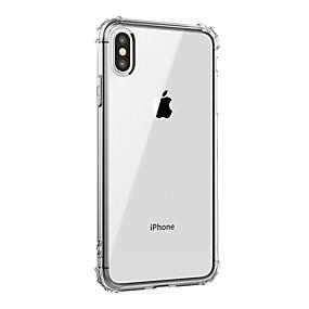 abordables Coques d'iPhone-cas pour apple iphone xr xs xs max couverture arrière transparente antichoc solide couleur tpu doux pour iphone x 8 8 plus 7 7plus 6s 6s plus se 5 5s
