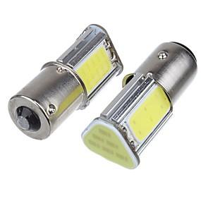 billige Car Signal Lights-2pcs p21w bay15d ba15s p21 / 5w 1156 ledet cob auto bremse lys hvid farve bil led pærer bag dreje signal lampe parkering dc12v