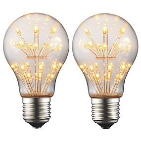 ieftine Becuri LED Glob-2w e27 edison condus bec A19 retro filament luminos ac 220V - 240V pentru bar Crăciun partid decor atmosferă de noapte (2 buc)