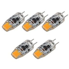 abordables Luces LED de Doble Pin-SENCART 5pcs 2 W Luces LED de Doble Pin 180 lm G4 T 1 Cuentas LED COB Decorativa Blanco Cálido Blanco 12 V