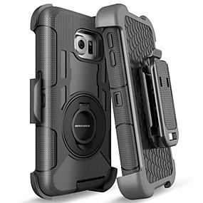 halpa Galaxy S -sarjan kotelot / kuoret-BENTOBEN Etui Käyttötarkoitus Samsung Galaxy S8 Iskunkestävä / Sormuksen pidike / Himmeä Suojakuori Yhtenäinen Kova Silikoni / PC varten S8 / S6